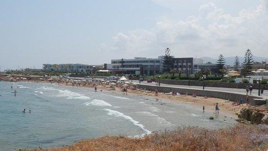 The Island Hotel and beach
