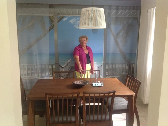 Rabosea Bed & Breakfast : thats me in the guests dining room, great mural on that wall!