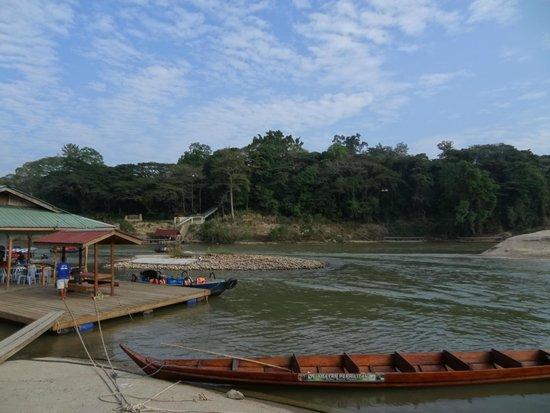 Taman Negara National Park : La porte d'entrée du parc : juste la rivière à traverser