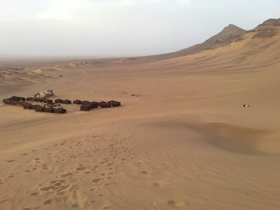 Easy Take Transport: Our tents in the desert