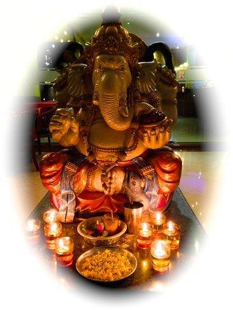 Ganesha beckons visitors to Indian Delites