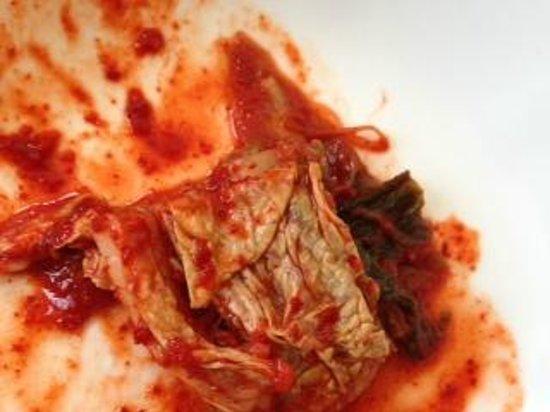 Bulgogi: homemade kimchi, forgot to take the photo before we started eating!