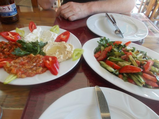 Meryem Turkish Restaurant: meze platter and fresh salad
