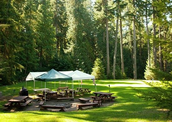Alta Crystal Resort at Mount Rainier: Recreation field with croquet, horseshoes, volleyball & more