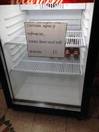The Cathedral Hostel: Buy drinks fridge. Never stocked. Staff occupy main fridge with breakfast drinks