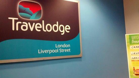Travelodge London Liverpool Street : Reception