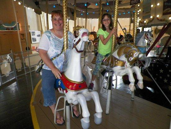 Merry-Go-Round Museum : Enjoying a carousel ride.