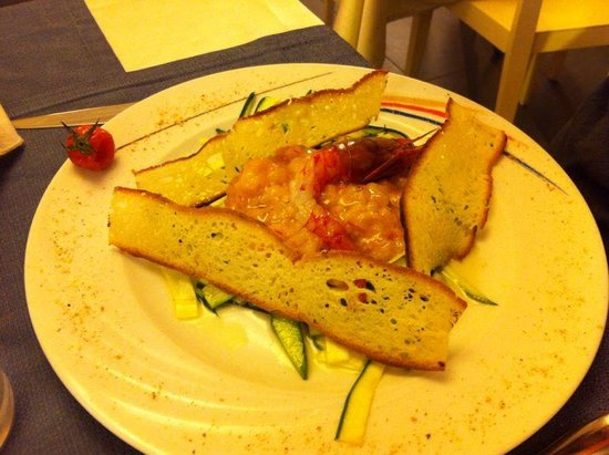 Ristorante Tannure : Tartare gamberi e zucchine