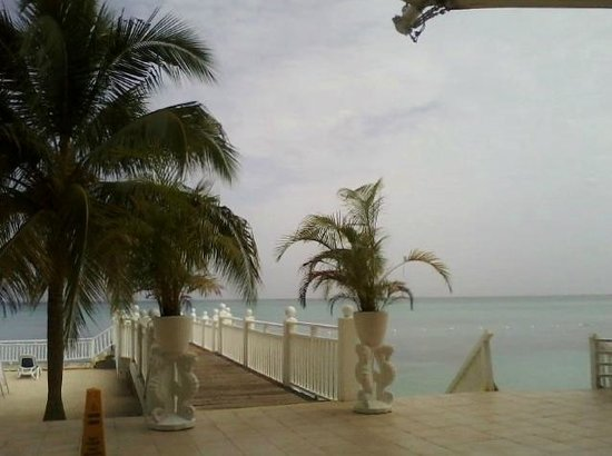 Royal Decameron Montego Beach: View from buffet area (early morning/hazy)