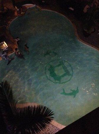 Van Loi Hotel : pool at night