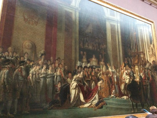 Musee du Louvre: the coronation of nepolean by Jacques Louis David