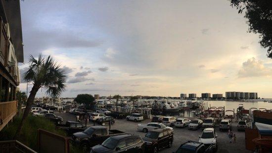 Dewey Destin Harborside: View of the harbor.