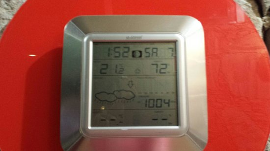 Hotel Altamar: Weather Stations at the lift entrance top floor. This was taken early hours of the morning. Look