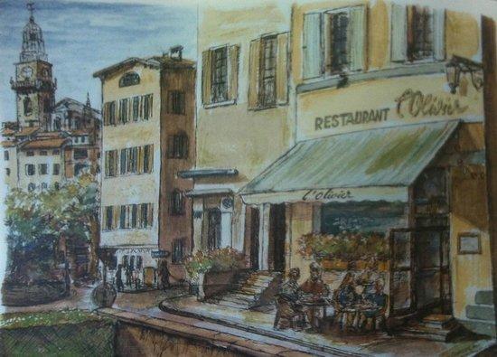 Restaurant L'Olivier: Le set de table de l'Olivier