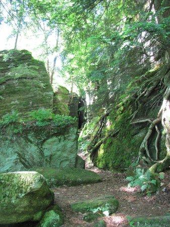 Panama Rocks Scenic Park: Some of the large rocks.