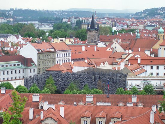 A rooftop view of Mala Strana