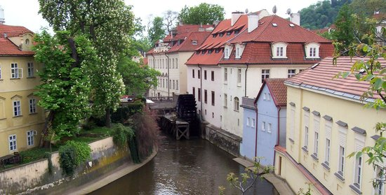 View of a water wheel in Mala Strana