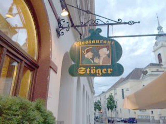 Restaurant Stoeger : Sign at entrance