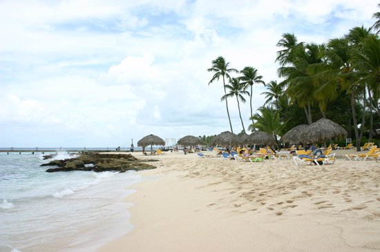 Viva Wyndham Dominicus Palace: Beach area between both resorts
