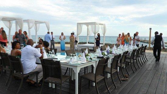 Viva Wyndham Dominicus Palace: Wedding reception dinner set up at Viva Café