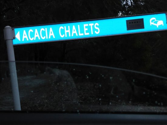 Acacia Chalets & Margaret River Beach Studios: look out for this road side on your left when you turn in from Cave Road