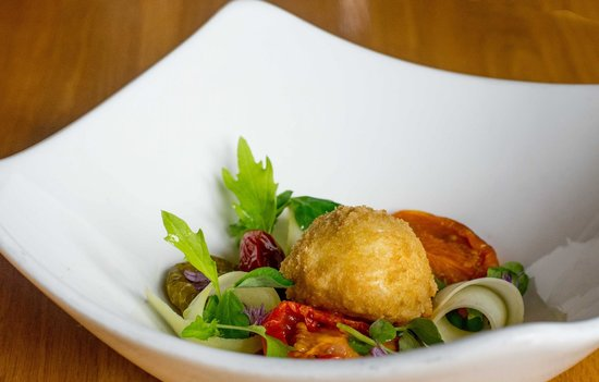Lesbury, UK: Oozing Soft Hen's Egg With Early Summer Pea Salad