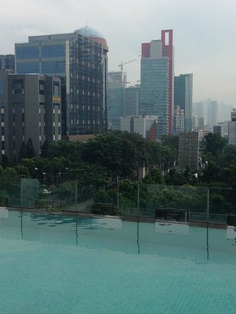 JS Luwansa Hotel and Convention Center: View from the pool