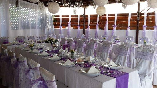 Windmill Restaurant: wedding set up1