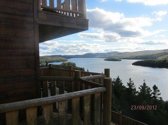 Hotel Sacacomie: L'étendue du lac depuis la chambre
