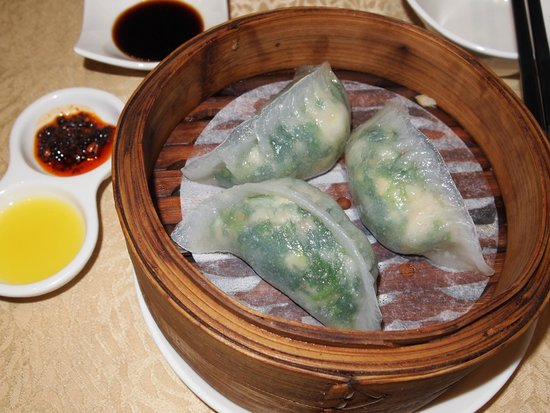 Steamed Shrimp And Spinach DumplingPicture of Crystal Jade