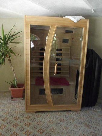 château le Martinet : le sauna dans la serre