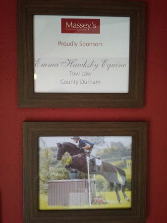 Massey's traditional tea room: Here at Masseys we sponsor Emma Hawksby Equine