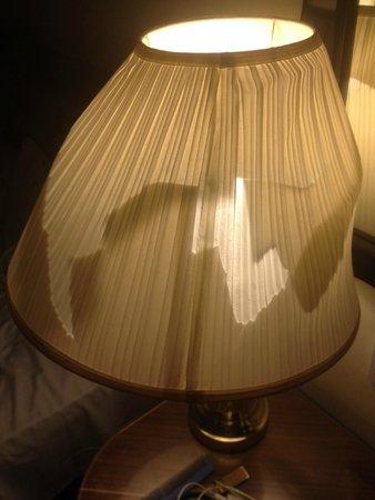 Britannia Ashley Hotel: Broken lamp