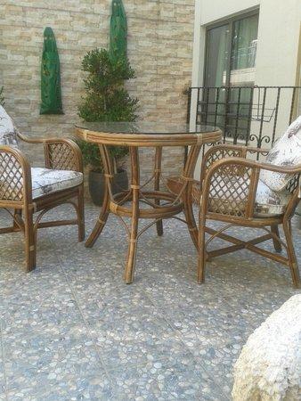Senatus Suites: Private terrace for room 201