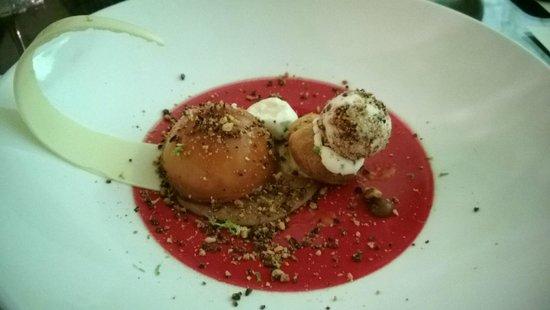Restaurant Origine : Caramel desert with ice cream