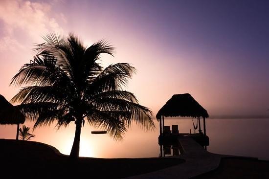 sunrise at bacalar lagoon resort... this was an amazing morning