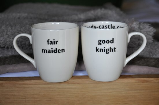 Knight's Glamping at Leeds Castle: The cups in your tent!