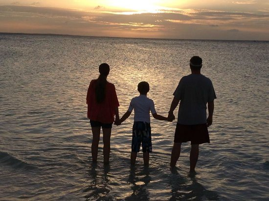 The Sands at Grace Bay : Family picture watching the sunset