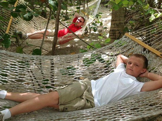 Sands at Grace Bay: Lounging in the hammocks
