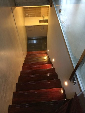 Aqua on Kepler: Staircase to the 1st level and garage