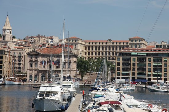 InterContinental Marseille - Hotel Dieu : The hotel as seen from across the harbor.