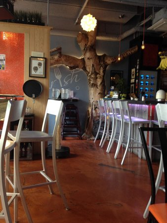 Nourish Bistro : The decor & the amazing food make this place unforgettable!