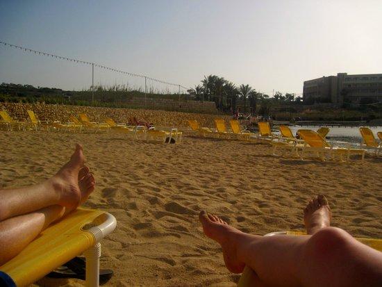 Ramla Bay Resort: private resort beach