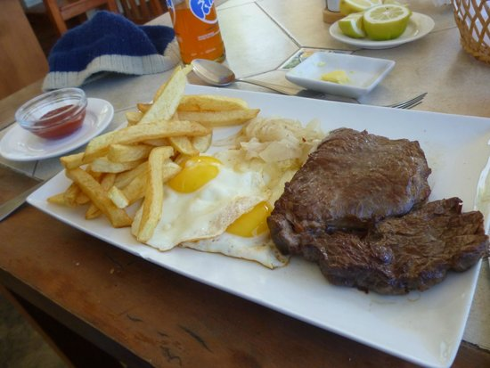 Restaurante Con Limon: Lomo a lo pobre