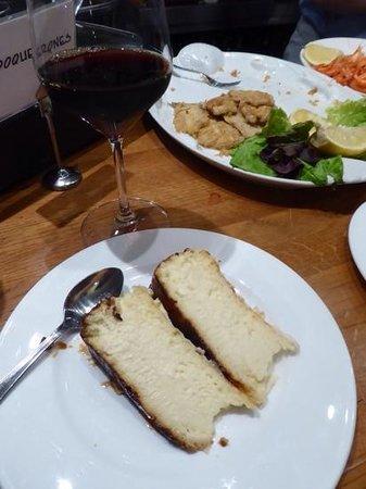 La Vina : cheesecake and Pedro Ximinez-- magic!