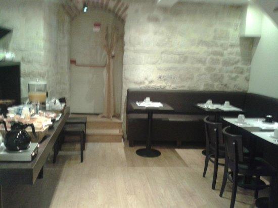 Cosmo's Hotel : Der Speisesaal im Untergeschoss
