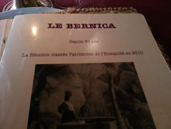 Le Bernica : La carte