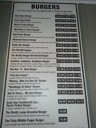 Lunch in a Bag: Burger menu