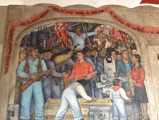 Murales de Diego Rivera en la Secretaría de Educacion Publica: Mural
