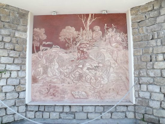 Grand Hotel Aminta: Fresco at entrance to hotel